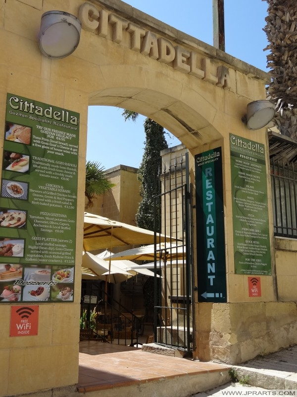 Restaurante Cittadella en Victoria, Gozo, Malta