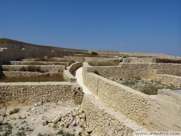 Ruines dans la Citadelle de Gozo (Victoria, Malte)