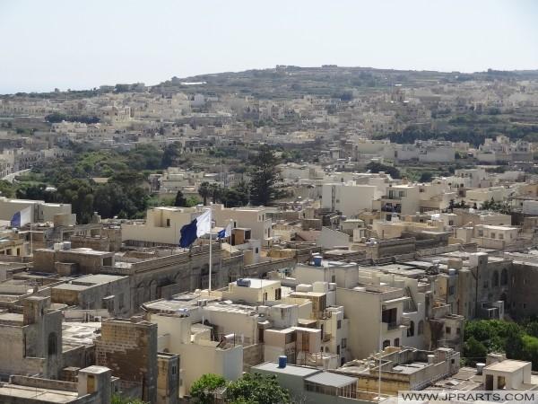 Veduta di Victoria (Rabat) dalla Cittadella di Gozo (Malta)