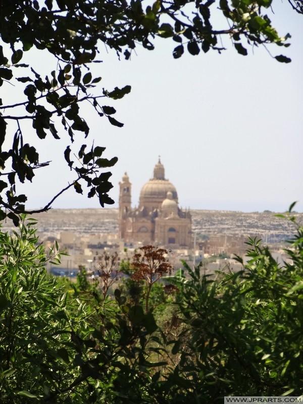 Belle vue sur la Xewkija Rotonde, Gozo, Malte
