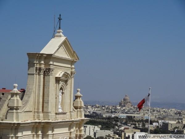 Xewkija Kirche Rotunda von Zitadelle in Victoria (Rabat), Gozo, Malta