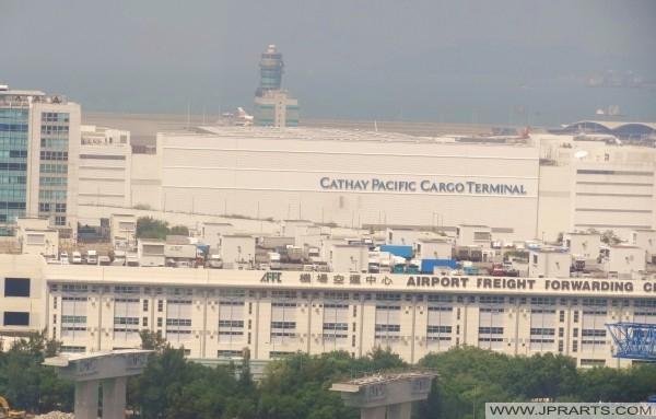 홍콩 국제 공항에서 캐세이 패시픽화물 터미널