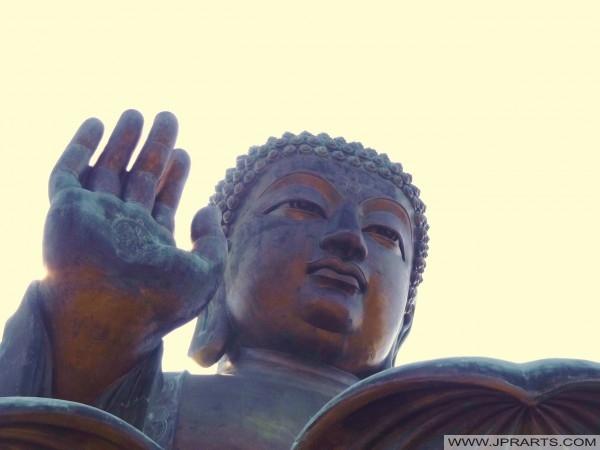 Nahaufnahme von Big Buddha in Hong Kong