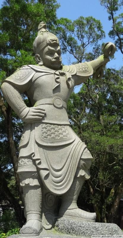 General Mihira, uno de los Doce Generales Divinas (Ngong Ping, Hong Kong)