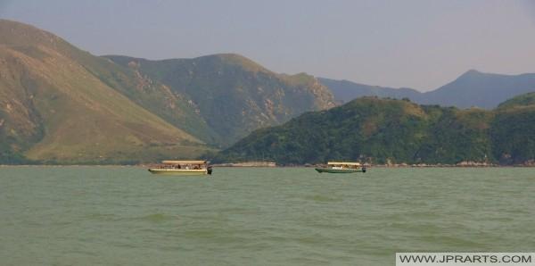 从大屿山,香港海岸线