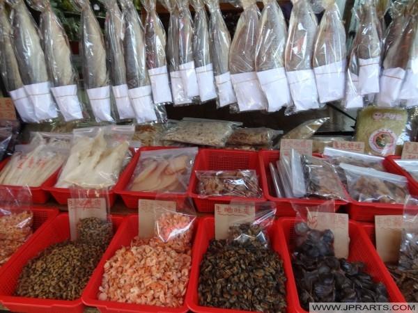 幹魚出售的大澳漁村,香港