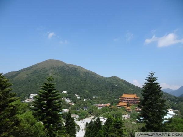 Monastère de Po Lin situé sur le Plateau Ngong Ping, l'île de Lantau, Hong Kong