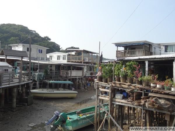 Szczudło wioska Tai O w Hong Kongu
