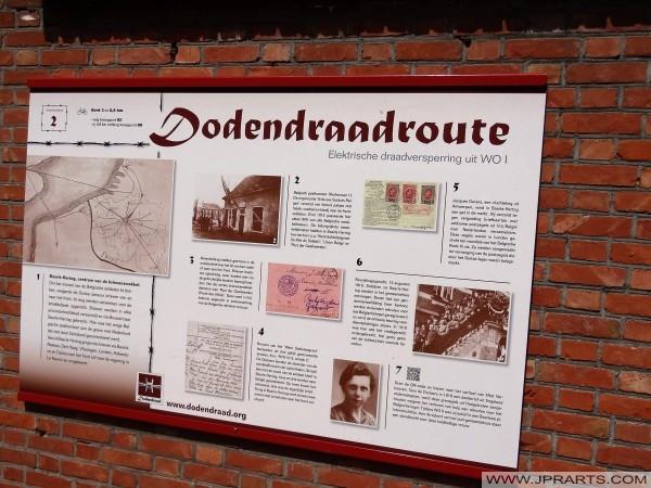 Dodendraadroute (Informatiebord in Baarle-Hertog, België)
