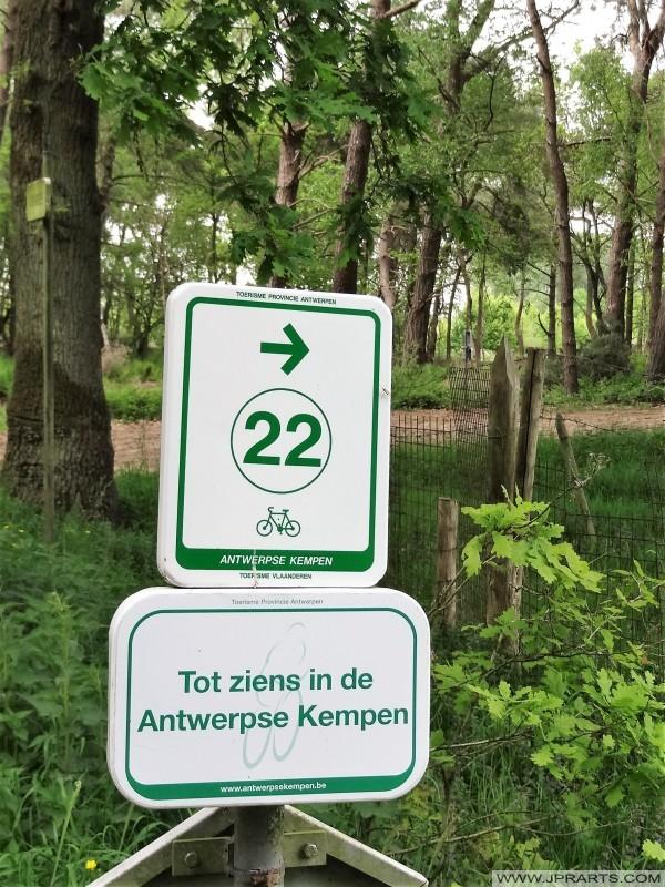 Fietsroute Antwerpse Kempen (België)