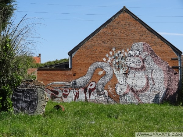 Gorila Grafiti u Doel, Belgija
