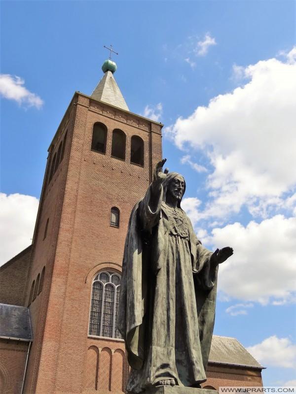 Sagrado Corazón Estatua en Baarle-Nassau, Países Bajos