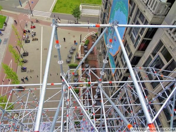 Steigerwerk van de Wederopbouw Trap in Rotterdam, Nederland