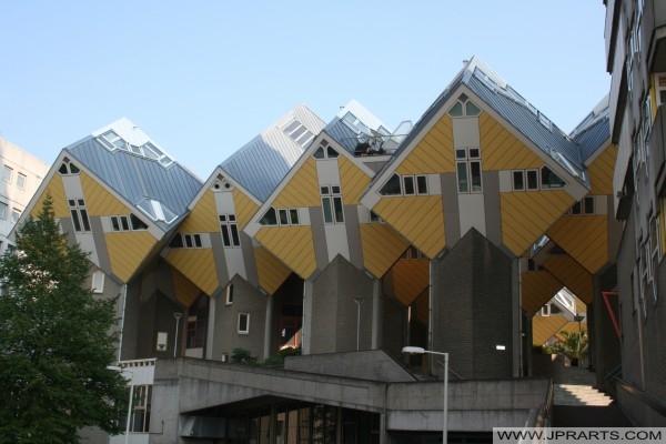 Kubuswoningen Rotterdam, ontworpen door Piet Blom