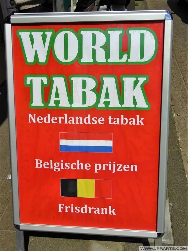 Tabac néerlandais pour les prix belges (Baarle-Hertog, Belgique)