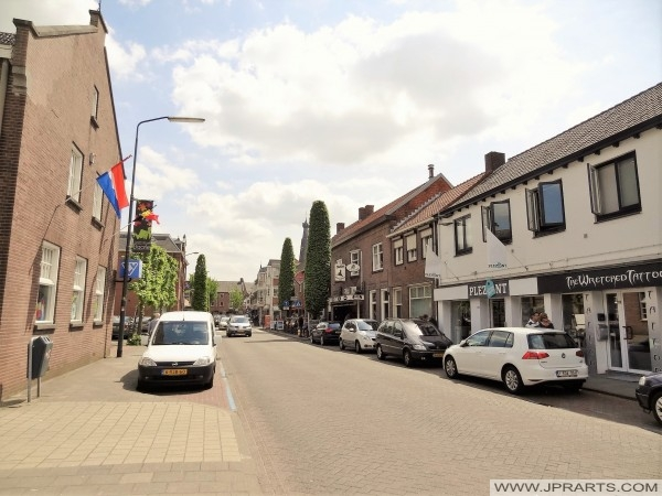 Utcára néző Baarle-Nassau, Hollandia