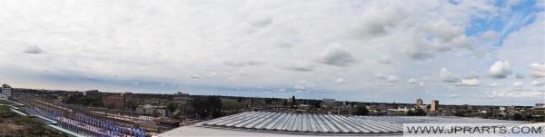 Vue panoramique depuis le Groothandelsgebouw (immeuble de bureaux) à Rotterdam, Pays-Bas