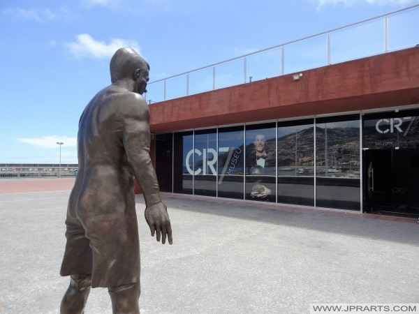 CR7 Museum and statue of Cristiano Ronaldo (Funchal, Madeira, Portugal)