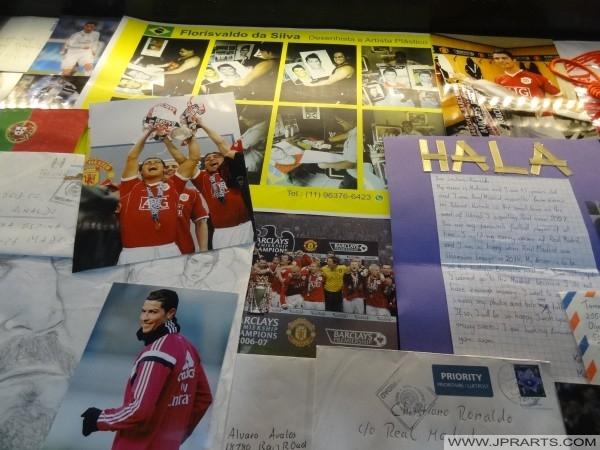 Cartas de fãs Cristiano Ronaldo (museu CR7 na ilha da Madeira)
