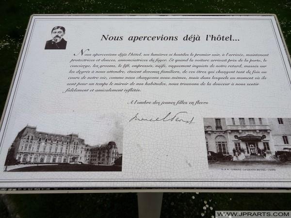 Le Grand Hôtel de Cabourg, France. Marcel Proust est resté ici régulièrement pour ses vacances avant la Première Guerre mondiale