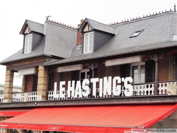 El restaurante de Le Hasting en Cabourg, Francia