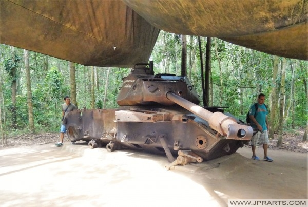 American M41 tank destroyed during the Vietnam War (Ben Dinh, Cu Chi Tunnels)