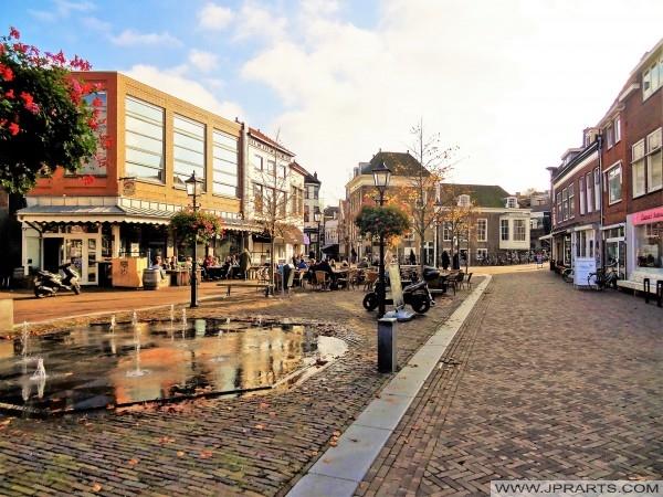 Maassluis şehir 'Markt', Hollanda