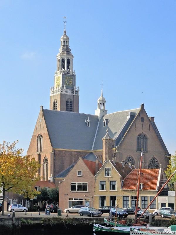 Große Kirche oder Neue Kirche auf Kirche-Insel in Maassluis, die Niederlande