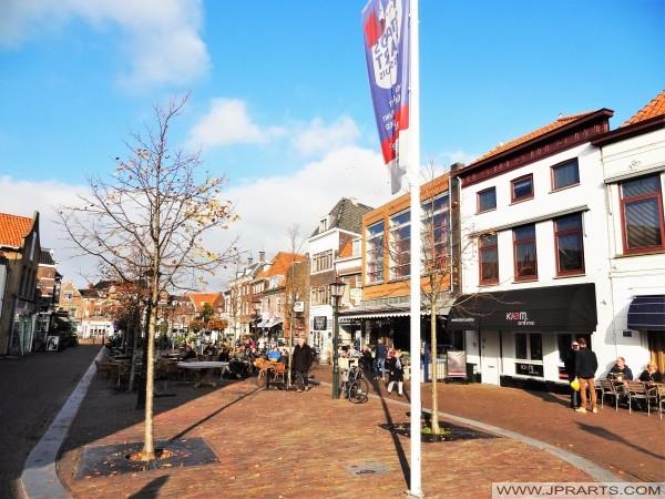 Markt in Maassluis, Nederland