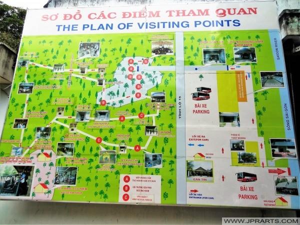 Kế hoạch của các điểm tham quan của Củ Chi đào hang ở Bến Đình, Việt Nam