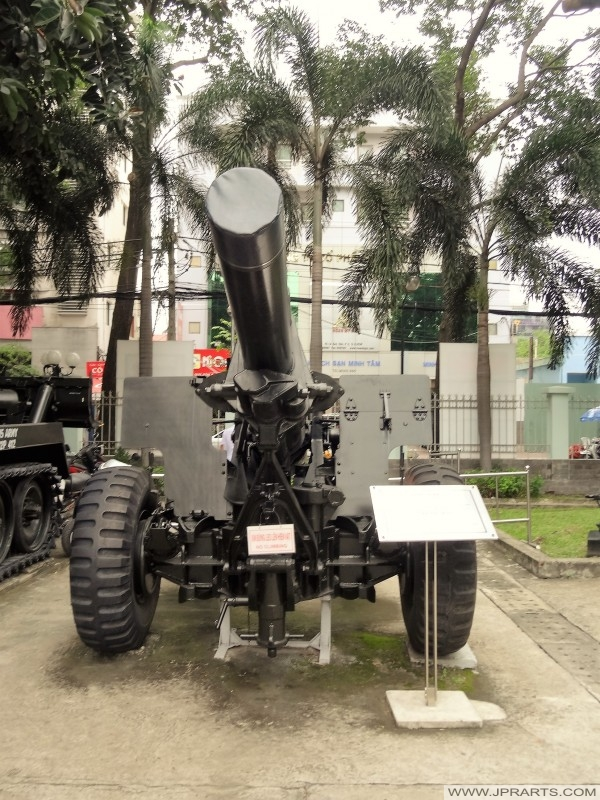 155 mm Howitzer (Artillery Gun in the War Remnants Museum in Ho Chi Minh City, Vietnam)