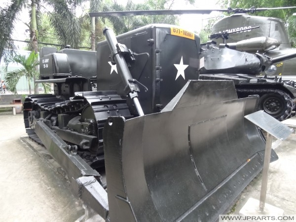 Caterpillar D7E Bulldozer at the HCMC War Remnants Museum in Vietnam