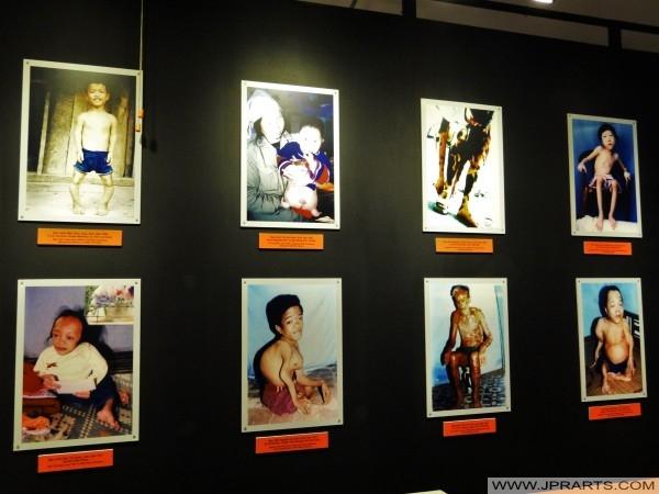 Ausstellung über Wirkungen von Agent Orange im War Remnants Museum in Ho-Chi-Minh-Stadt, Vietnam