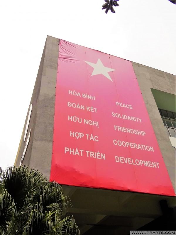Hòa bình, đoàn kết, hữu nghị, hợp tác, phát triển (Bảo tàng Chứng tích chiến tranh tại TP Hồ Chí Minh, Việt Nam)