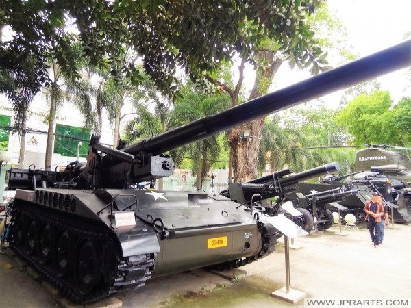 M107 - 175 MM Gun (King of the Battlefield) - Self-Propelled Artillery Piece in the War Remnants Museum in Ho Chi Minh City, Vietam