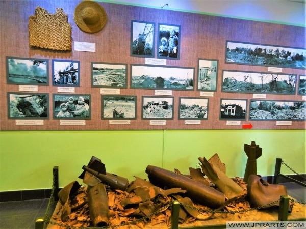 Foto's en Overblijfselen van de Vietnam Oorlog (War Remnants Museum in Ho Chi Minh City, Vietnam)
