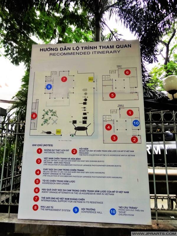 рекомендуемое маршрут в Музей отзвуков войны в Хошимине, Вьетнам