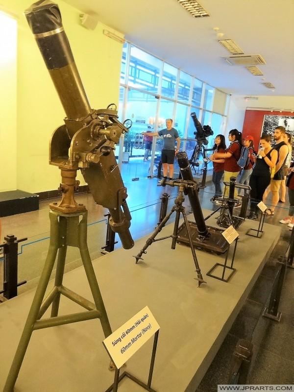 Armes américaines dans la guerre du Vietnam (Musée des restes de guerre à Ho Chi Minh, Vietnam)