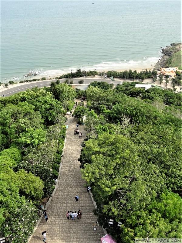 Langkah-langkah Gunung Nho di Vung Tau, Vietnam