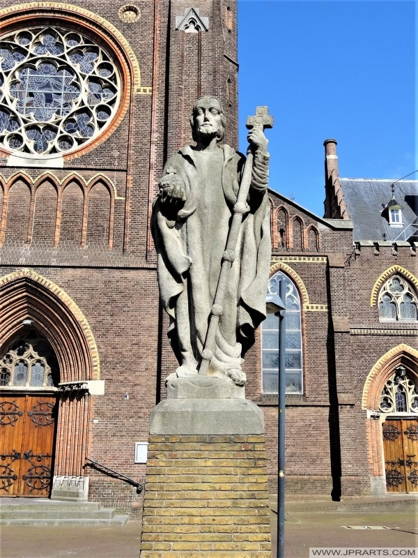 Statue of Christ the King in Leeuwarden, Netherlands