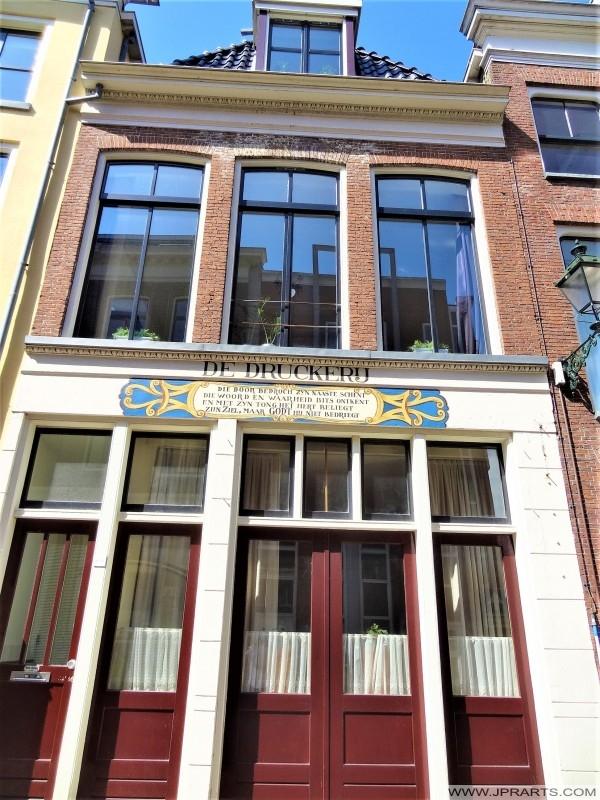 De Druckerij in de Kerkstraat in Leeuwarden, Nederland