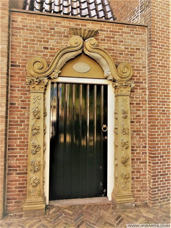 Door of the Jacobijner Church in Leeuwarden, The Netherlands