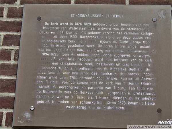 Geschiedenis van de St. Dionysiuskerk of Heikese Kerk in Tilburg, Nederland