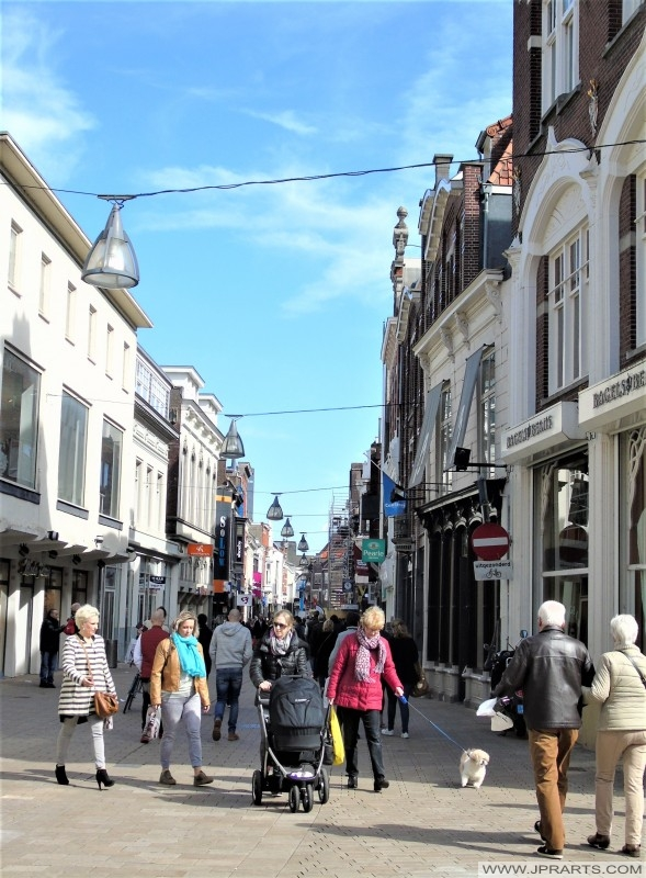 Shopping in the Heuvelstraat in Tilburg, The Netherlands