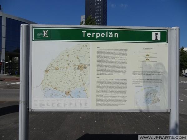 Terpelân Route in Friesland, Nederland
