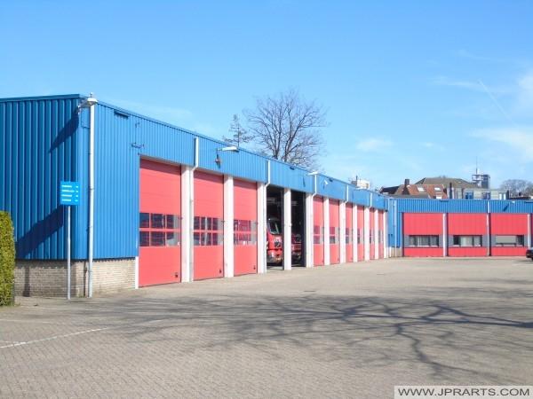 Brandweerkazerne in Tilburg, Nederland