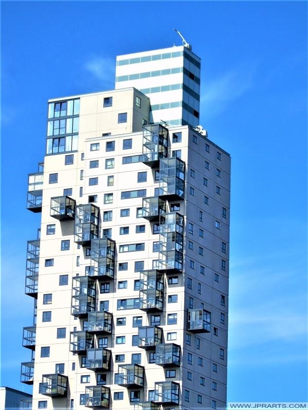 Building in the neighborhood Haestrechtkwartier in the Dutch city of Tilburg