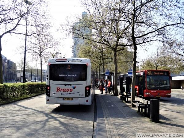 Busstation in Tilburg, Nederland