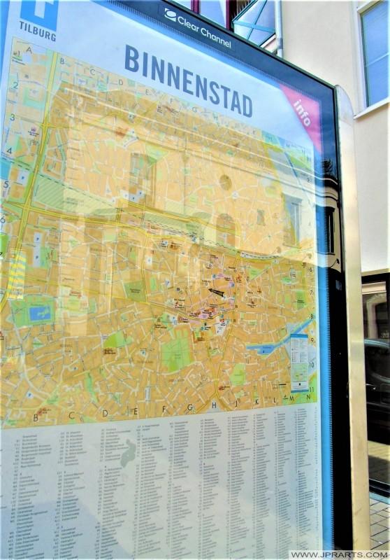 Mapa Tilburg, Holandia