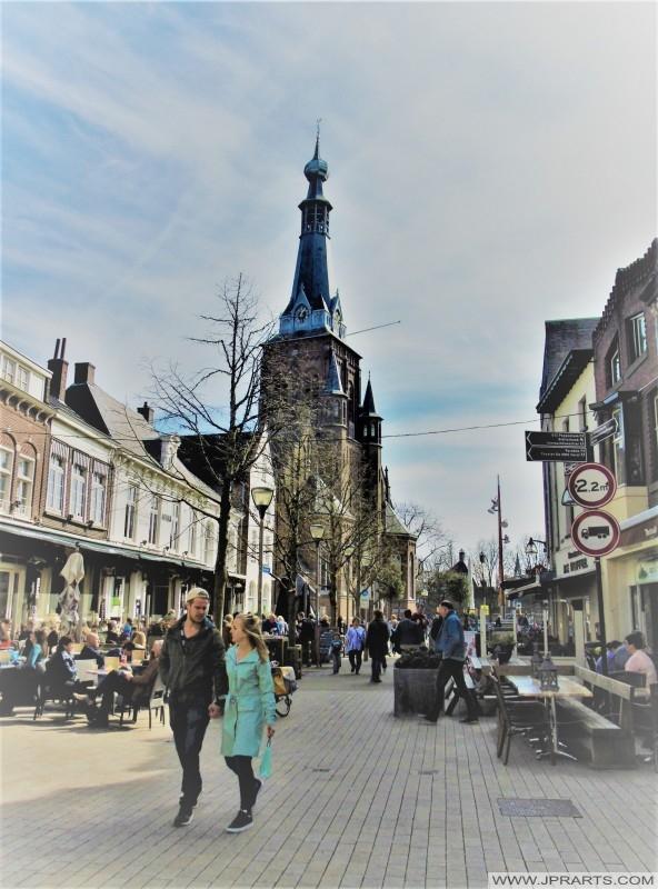 Oude Markt in Tilburg, Nederland